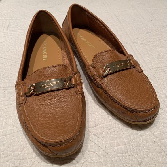 3cef8e8dbb1 Coach Shoes - Coach Women s Olive Pebble Grain Leather Loafers